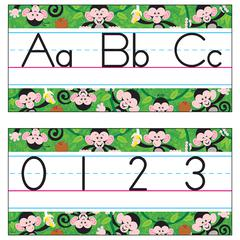BB SET MONKEY MISCHIEF MANUSCRIPT JUMBO ALPHABET LINE Z-B