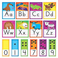 AWESOME ANIMALS ALPHABET CARDS STD MANUSCRIPT BB SET