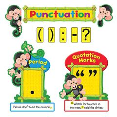 Trend Monkey Collection Punctuation Bulletin Board Set - Learning Theme/Subject - 10, 12 (Punctuation Marks, Label) Shape - 1 Set