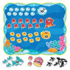 "Trend Sea Buddies Collection 0-120 Bulletin Board Set - 25.50"" Height x 30.25"" Width - 1 Set"