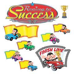 Trend Monkey Racing To Success Bulletin Board Set - 45 Piece