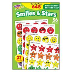 STINKY STICKERS SMILES STARS 648/PK JUMBO ACID-FREE VARIETY PK