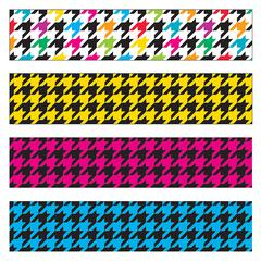TREND ENTERPRISES HOUNDSTOOTH MIX BORDER VARIETY PACK