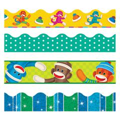 SOCK MONKEYS BORDER VARIETY PACK