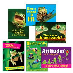 TREND ENTERPRISES AWESOME ATTITUDE FROGS COMBO SETS ARGUS POSTERS