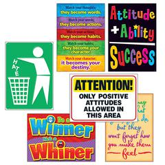 """Trend Attitude Matters Posters Combo Pack - 13.4"""" Width x 19"""" Height - Multicolor"""