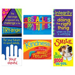 TREND ENTERPRISES POSITIVE TRAITS ARGUS POSTER COMBO PACK