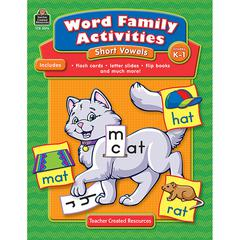 TEACHER CREATED RESOURCES WORD FAMILY ACTIVITIES SHORT VOWELS GR K-1