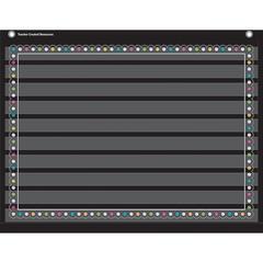 CHALKBOARD BRIGHTS 10 POCKET 17X22 POCKET CHART