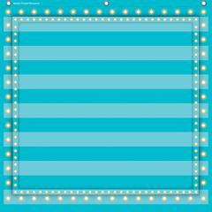 LIGHT BLUE MARQUEE 7 POCKET 28X28 POCKET CHART
