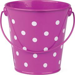PURPLE POLKA DOTS BUCKET