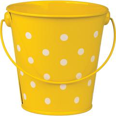 YELLOW POLKA DOTS BUCKET