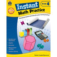 TEACHER CREATED RESOURCES INSTANT MATH PRACTICE GR 4