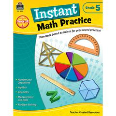 TEACHER CREATED RESOURCES INSTANT MATH PRACTICE GR 5