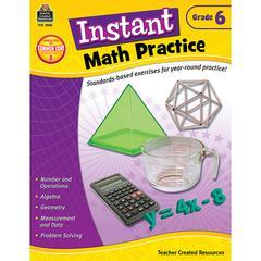 INSTANT MATH PRACTICE GR 6