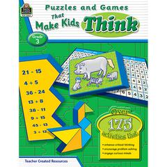 TEACHER CREATED RESOURCES PUZZLES AND GAMES THAT MAKE KIDS THINK GR-3