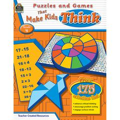 PUZZLES AND GAMES THAT MAKE KIDS THINK GR-4