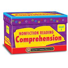 TEACHER CREATED RESOURCES NONFICTION COMPREHENSION CARDS LVL3