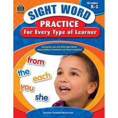 SIGHT WORD PRACTICE FOR EVERY TYPE OF LEARNER GR K-1