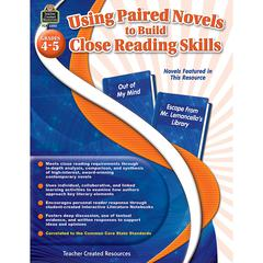 TEACHER CREATED RESOURCES GR 4-5 USING PAIRED NOVELS TO BUILD CLOSE READING SKILLS
