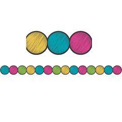 Chalkboard Brght Circle Border Trim