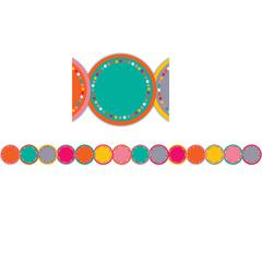 TROPICAL PUNCH BORDER TRIM DIE CUT CIRCLES