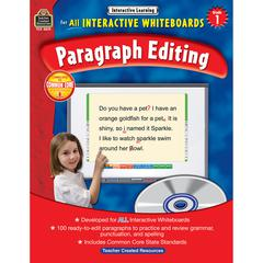 TEACHER CREATED RESOURCES INTERACTIVE LEARNING GR 1 PARAGRAPH EDITING W/CD