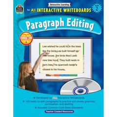 TEACHER CREATED RESOURCES INTERACTIVE LEARNING GR 2 PARAGRAPH EDITING W/CD