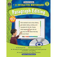 INTERACTIVE LEARNING GR 3 PARAGRAPH EDITING W/CD