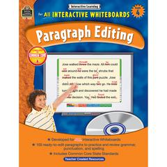 TEACHER CREATED RESOURCES INTERACTIVE LEARNING GR 4 PARAGRAPH EDITING W/CD