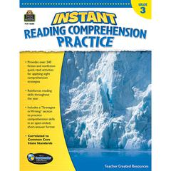 TEACHER CREATED RESOURCES INSTANT READING GR 3 COMPREHENSION PRATICE