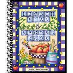 TEACHER CREATED RESOURCES LESSON PLAN & RECORD BOOK CHECKS PURPLE CHECKS BORDER