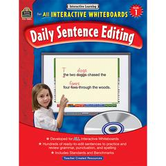 TEACHER CREATED RESOURCES INTERACTIVE LEARNING GR 1 DAILY SENTENCE EDITING BK W/CD