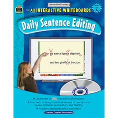 TEACHER CREATED RESOURCES INTERACTIVE LEARNING GR 2 DAILY SENTENCE EDITING BK W/CD