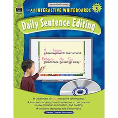 TEACHER CREATED RESOURCES INTERACTIVE LEARNING GR 3 DAILY SENTENCE EDITING BK W/CD