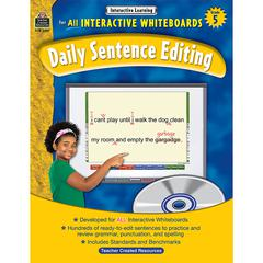 TEACHER CREATED RESOURCES INTERACTIVE LEARNING GR 5 DAILY SENTENCE EDITING BK W/CD