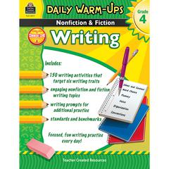 TEACHER CREATED RESOURCES DAILY WARM UPS GR 4 NONFICTION & FICTION WRITING BOOK