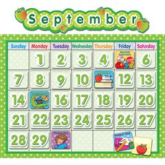 TEACHER CREATED RESOURCES POLKA DOT SCHOOL CALENDAR BB SET