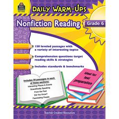 TEACHER CREATED RESOURCES DAILY WARM UPS GR 6 NONFICTION READING