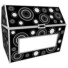 TEACHER CREATED RESOURCES BLACK & WHITE CRAZY CIRCLES CHEST