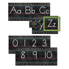 TEACHER CREATED RESOURCES CHALKBOARD BRIGHTS ALPHABET LINE BB SET