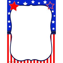 "Teacher Created Resources Copy & Multipurpose Paper - Letter - 8 1/2"" x 11"" - 50 / Pack - Red, White, Blue"