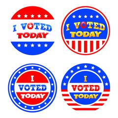 """Teacher Created Resources I Voted Today Wear'Em Badges - Encouragement Theme/Subject - I Voted Today - Self-adhesive - 2.38"""" Diameter - Red, White, Blue - 32 / Pack"""