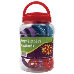 HAPPY BIRTHDAY WRISTBANDS JAR