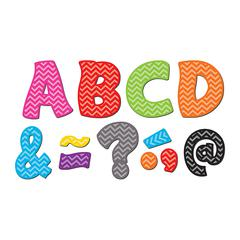 TEACHER CREATED RESOURCES CHEVRON FUNTASTIC FONT 3IN MAGNETIC LETTERS