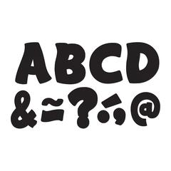 TEACHER CREATED RESOURCES BLACK FUNTASTIC FONT 3IN MAGNETIC LETTERS