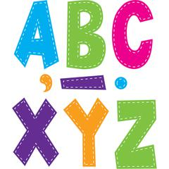 MULTI BRIGHT STITCH 7IN FUN FONT LETTERS