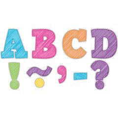 SCRIBBLE BOLD BLOCK 3 MAGNETIC LETTERS