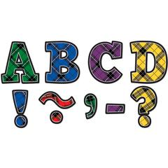 PLAID BOLD BLOCK 3IN MAGNETIC LETTERS
