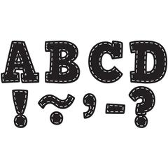 BLACK STITCH BOLD BLOCK 3 MAGNETIC LETTERS